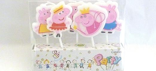 Velas de cumpleaños, diseño de Peppa Pig