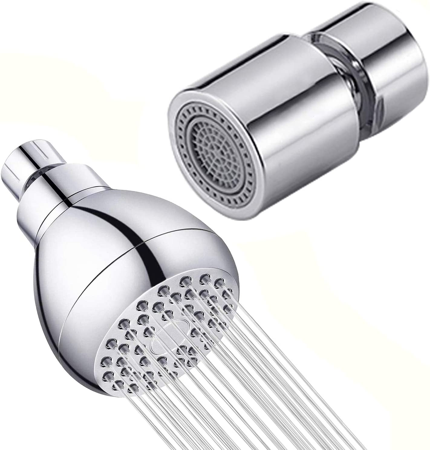 Shower Nozzle Water Saving Aerator Faucet Filter Faucet Aerator Two Water Mode Kitchen Tool Kitchen Faucet Aerator Water Bubbler,silver