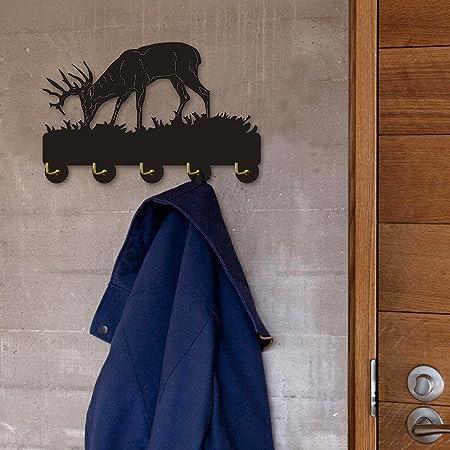 Amazon.com: Ciervo y escena de montaña gancho de pared ...