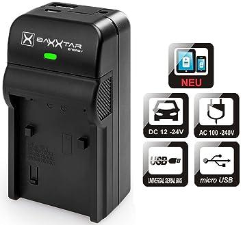 Baxxtar 5en1 Cargador Para Batería Panasonic DMW BLG10 E - RAZER 600 II - Lumix DC LX100 II GX9 TZ95 TZ90 TZ200 DMC TZ100 TZ80 GF6 GX7 GX80 LX100 - ...