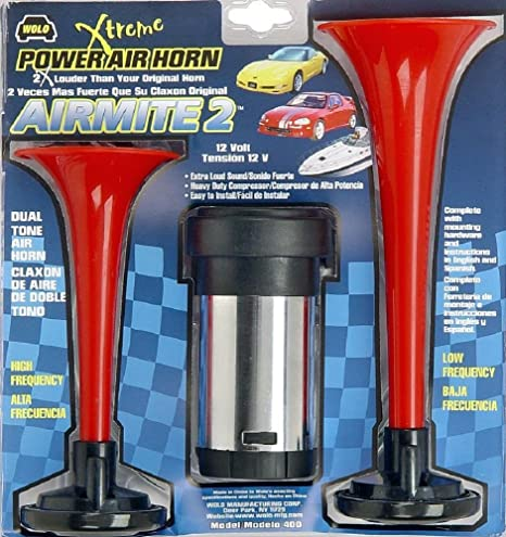 Amazon.com: Wolo (400) Airmite 2 Power Air Horn - 12 Volt, Low and High Tone: Automotive