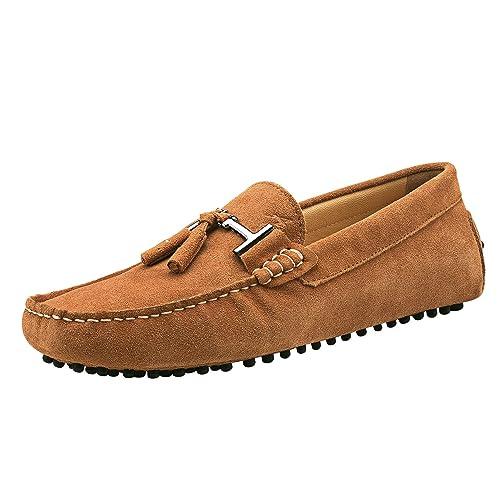 Shenduo Hombre Zapatos Casuales - Mocasines de Piel con borlas cómodos para Hombre D7157: Amazon.es: Zapatos y complementos