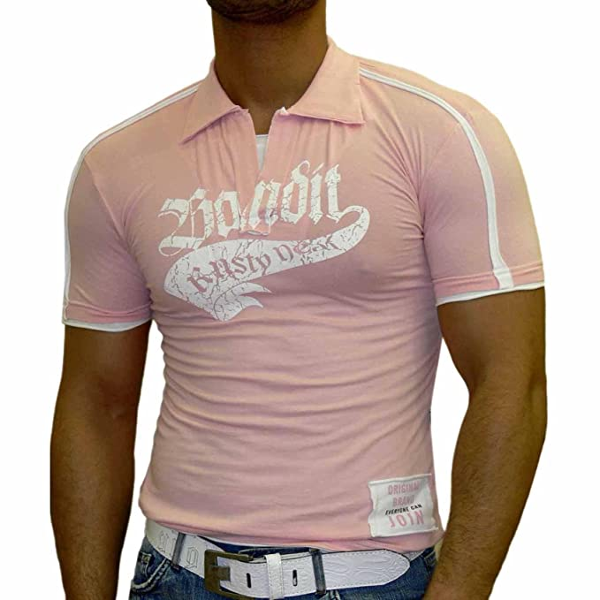 Rusty Neal Hombre Manga Corta 2 in1 Polo Camiseta de Slim Fit Polo ...