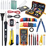 Ambberdr Portable Soldering Iron Kit Welding Tool, 60W Adjustable Temperature Soldering Iron with ON/OFF Switch, Digital…