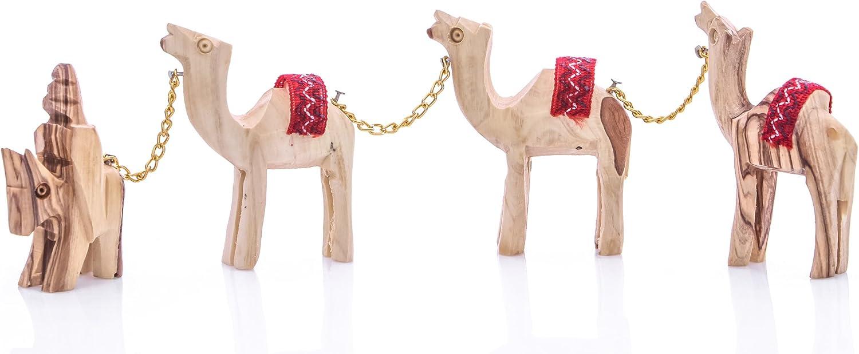 10.5cm Olive Wood Animal Statue Camel Wood Craft OW-ANI-009