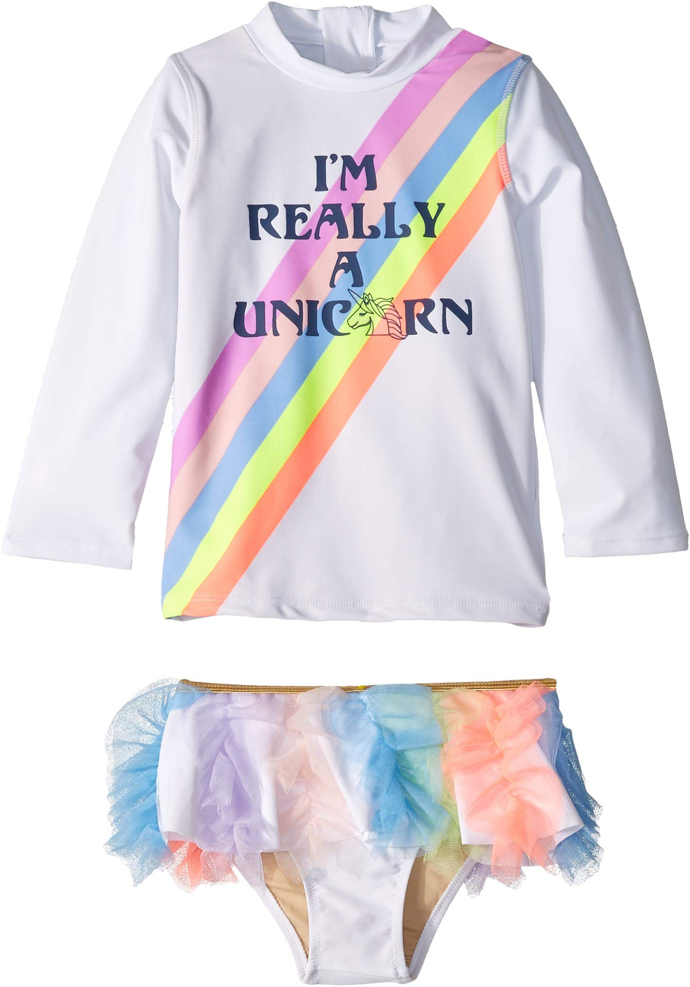 Shade Critters Baby Girl's Really A Unicorn Rashguard Set (Infant/Toddler) Multi 2T (Toddler)