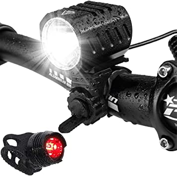 Luz Bicicleta, LED Luces Bicicleta Delantera USB de Luces ...