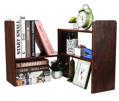 Amazon.com: PAG - Estantería de escritorio ajustable para ...