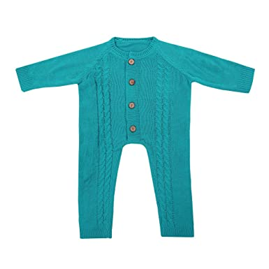 Amazon Birdfly Baby Cable Knit Romper Warm Button Down Sweater