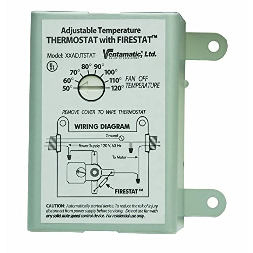 temperature switches amazon com ventamatic xxfirestat 10 amp adjustable programmable thermostat firestat for power attic ventilators replacement