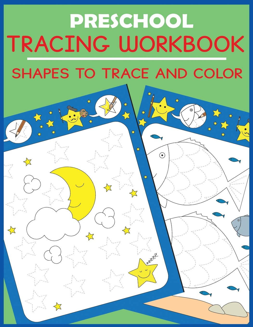 amazon preschool tracing workbook shapes to trace and color
