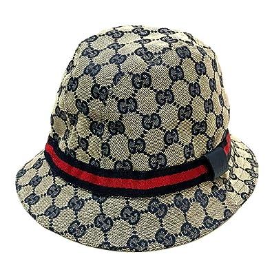 eb4ba56506e9 (グッチ)GUCCI 258057 シェリーライン タグ有 ハット帽 帽子 GGキャンバス レディース 中古