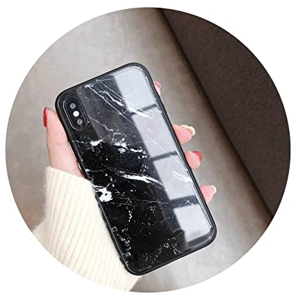 67934096b89 Image Unavailable. Image not available for. Color: Luxury Phone Cover for  iPhone 7 Case Marble Stone Tempered Glass ...