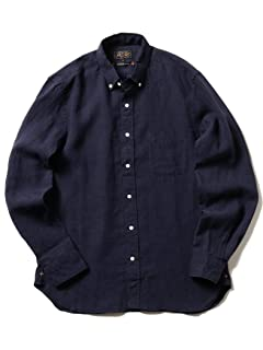 Linen Buttondown Shirt 11-11-5200-139: Navy