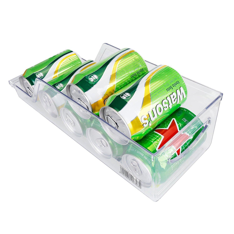 DINY hogar productos bebidas puede organizador, soporte para latas de soda, refrigerador y congelador de almacenamiento organizador de basura para cocina ...