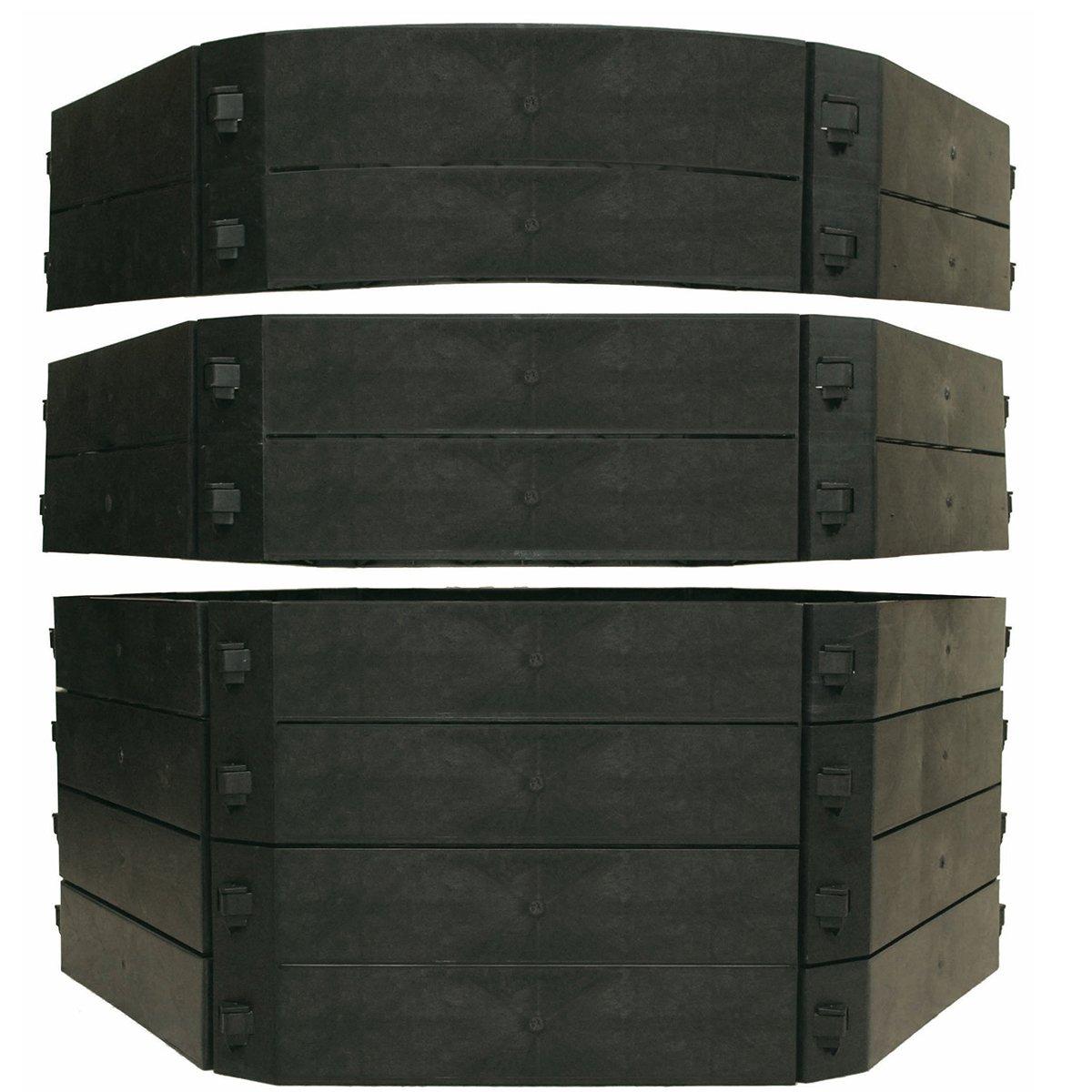 KHW Komposter Schnellkomposter Aufbausatz, 250 L, schwarz 55019