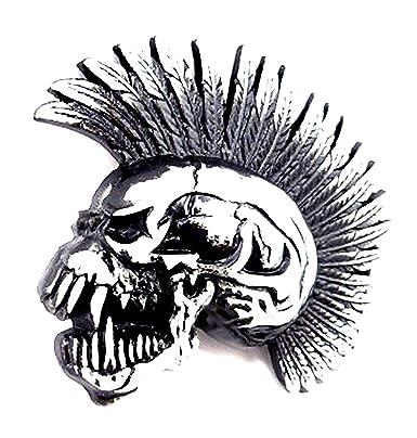 8bb44b8fb7f2 Black Metal Buckle 3064 Boucle de ceinture mixte amovible Punk Rock  T ecirc te de Mort