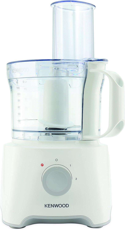 Kenwood FDP300WH 800W 2.1L Blanco - Robot de cocina (2,1 L, Blanco, Giratorio, 1,2 L, De plástico, Acero inoxidable): Amazon.es: Hogar