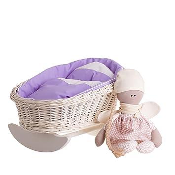 Un Balancín de cuna, una Balancín, un columpio Parque de mimbre para cama, muñecas: Amazon.es: Bebé