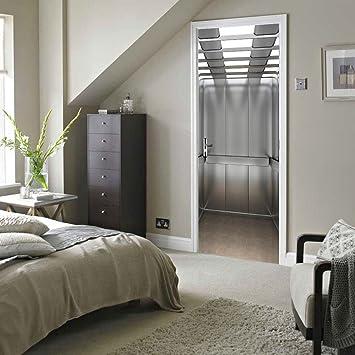 CHENOOXX Schlafzimmer Holztür renovierung Imitation 3d-Aufzug ...