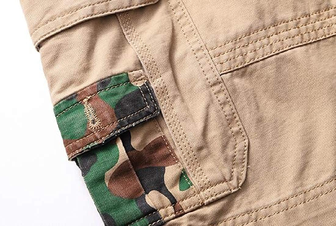 X-Future Mens Casual Plus Size Ripstop Cotton Loose Summer Cargo Shorts No Belt