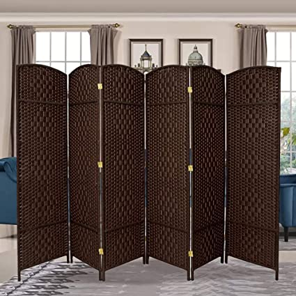 Fine Rhf 6 Ft Tall Extra Wide Diamond Weave Fiber Room Divider Double Hinged 6 Panel Room Divider Screen Room Dividers And Folding Privacy Screens 6 Download Free Architecture Designs Embacsunscenecom