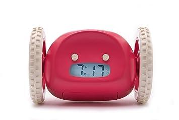 amazon com clocky alarm clock on wheels raspberry home kitchen