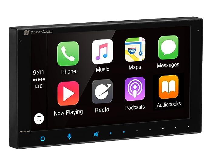 PLANET AUDIO PCP9800 Double Din, Apple CarPlay, Bluetooth, MP3/USB (No  CD/DVD) AM/FM Receiver, 6 75