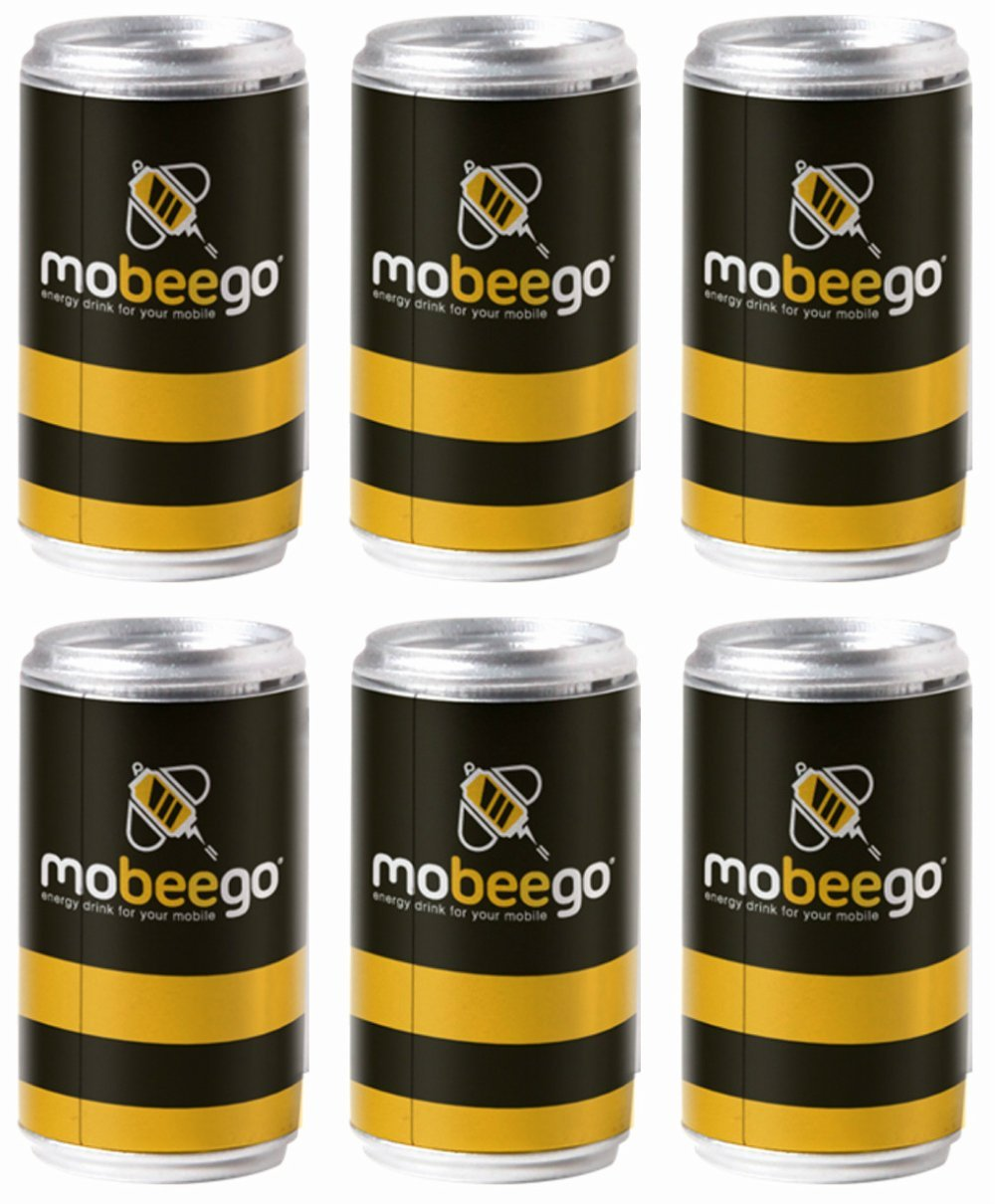 Mobeego Refill Can - Replacement Disposable Battery For the Mobeego iPhone or Android Adaptor - Pack of 6