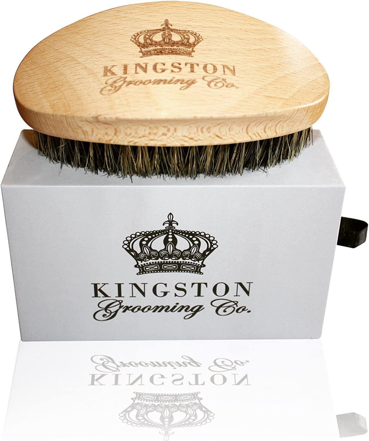 Kingston Grooming- 100% Boar Hair Bristle Brush for Men
