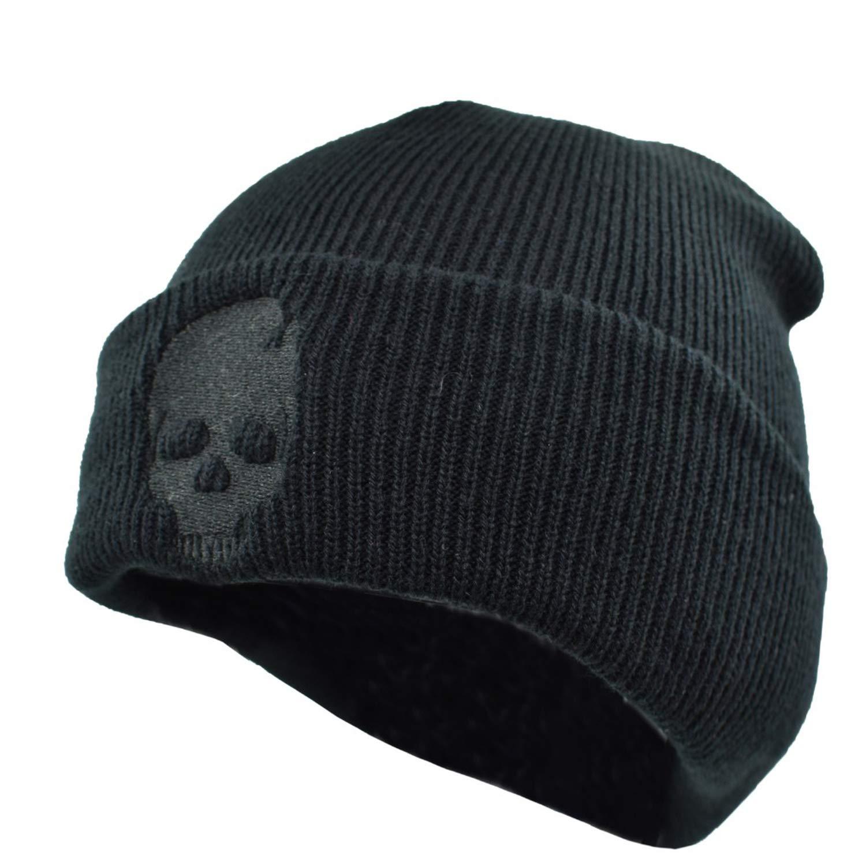 Men Winter Warm Knitted Hat Cool Black Hip hop Warm Knitted Hat Caps Hat Cap for Adult Men