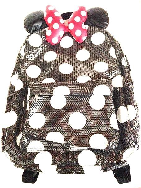 Parques de Disney Minnie Mouse Mochila de Lentejuelas Adulto tamaño: Amazon.es: Ropa y accesorios