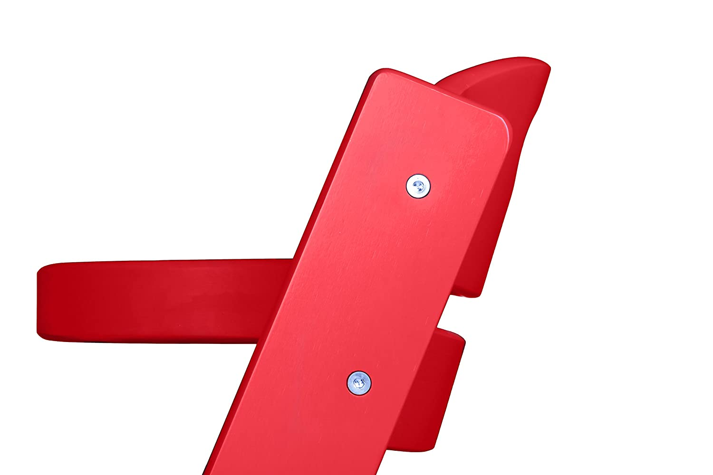 BabyGO 5855 Treppenhochstuhl Holz aus Buche Massiv mitwachsend rot