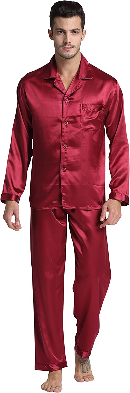 TONY /& CANDICE Para Hombre Del Pijama De Sat/én Conjunto