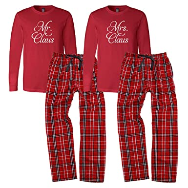 Mr. and Mrs. Claus Pajama Set at Amazon Women s Clothing store  4713379db