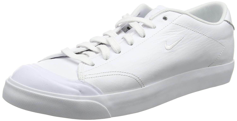 Nike Herren All Court 2 Low Leather Sneaker  41 EU|Wei? (White/White Black)