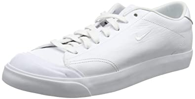 NIKE Men's All Court 2 Low Leather, White/White-Black, ...