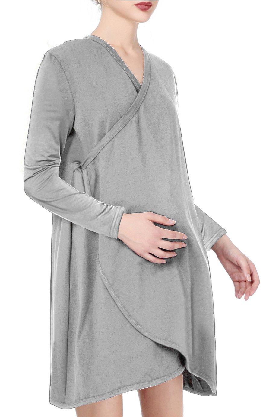 Womens Maternity Nursing Pajama Set Breastfeeding Pjs Hospital(XXL ...