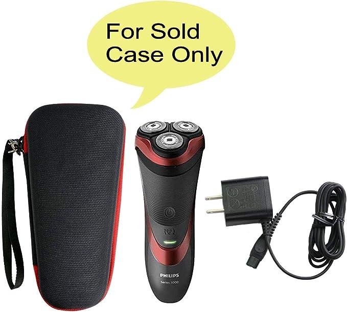 para Philips Series 3000/AT899/PT860/16 S5420/06 5000 S5110/06 Afeitadora eléctrica Duro Viaje Estuche Bolso Funda por Khanka (For series 3000/ AT899, Red zipper): Amazon.es: Salud y cuidado personal