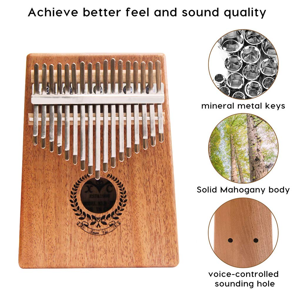 Kalimba 17 Keys Thumb Piano builts-in EVA high-performance protective box, tuning hammer and study instruction best gift For Kids Without Any Musical Basis Or Musician by Higohome (Image #2)