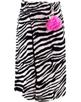 Black and White Zebra Print Juniors Shower Wrap Set