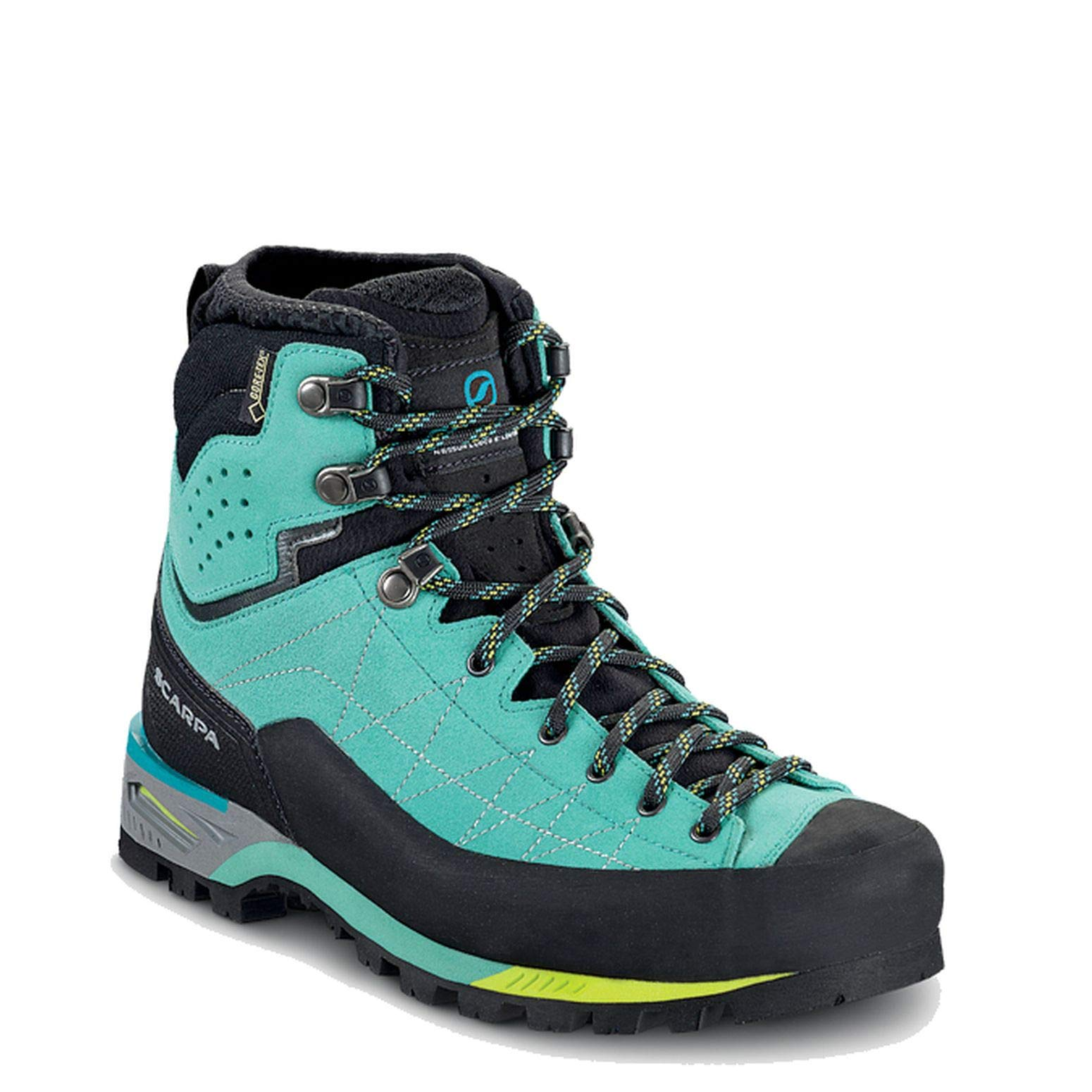 SCARPA Women's Zodiac Tech GTX Mountaineering Boot Green Blue - 40