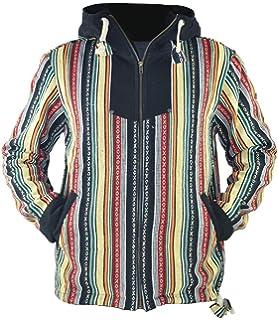 Amazon.com: virblatt - Baja Hoodie Hippie Jacket - Chaqueta ...