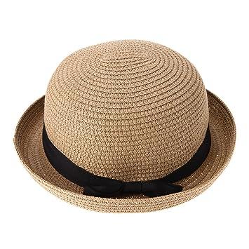 4367d2dc0ae Everpert Summer Women Straw Knitting Sun Hat Travel Outdoor Fold Beach Hat (Coffee)