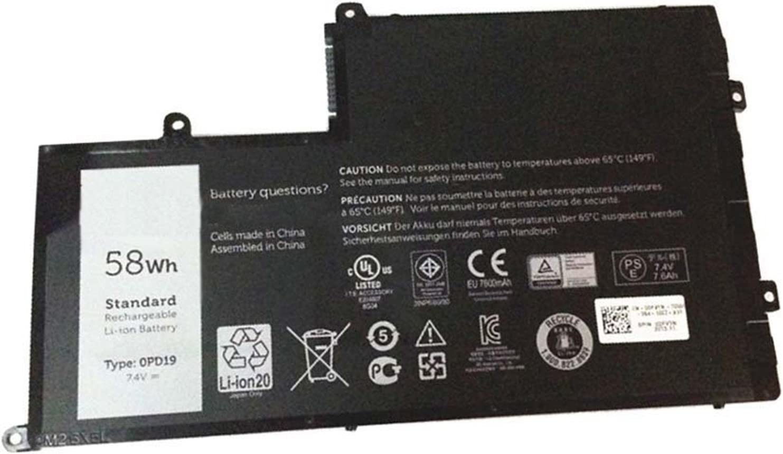 Dentsing 7.4v 58wh New OPD19/TRHFF Laptop Battery for Dell Inspiron 15 5547 5442 5542 0DFVYN 0PD19 5MD4V 86JK8 DFVYN
