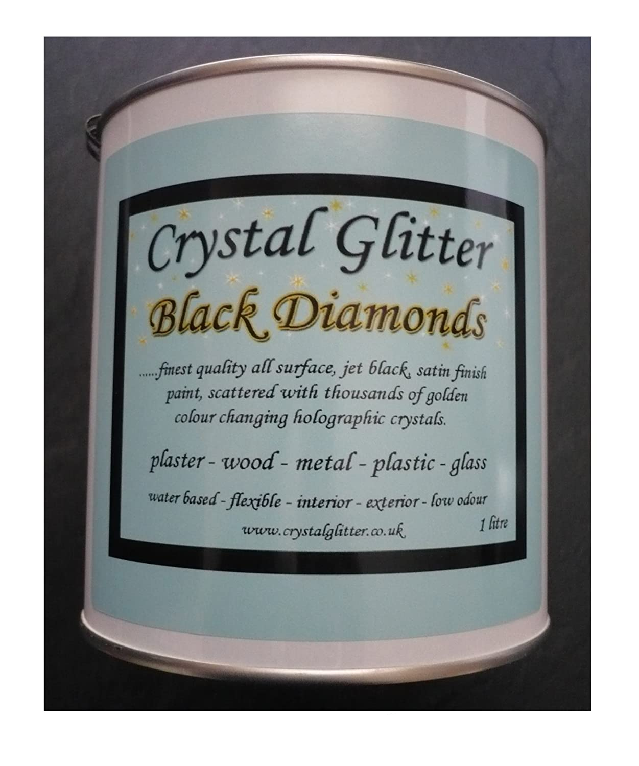 Crystal Glitter Black Diamonds magic jet black all surface glitter ...