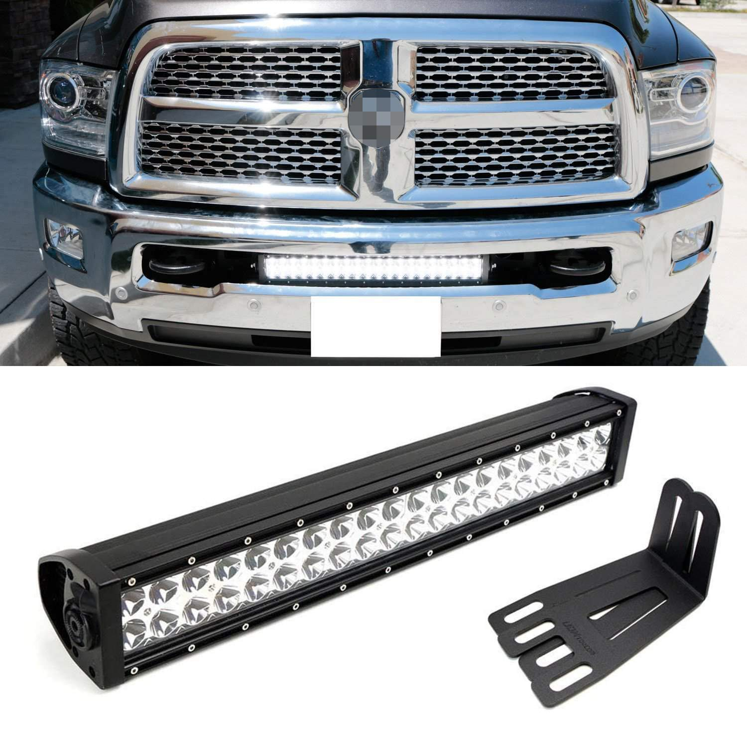 Ijdmtoy 20 120w High Power Double Row Led Light Bar With