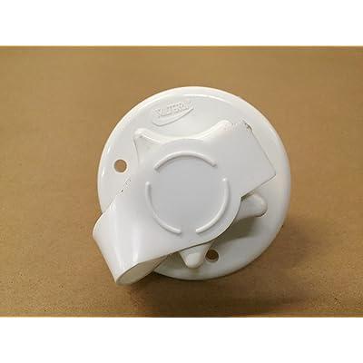 "Valterra White 2-3/4\"" RV City Water Fill w/Flange: Automotive [5Bkhe0114541]"