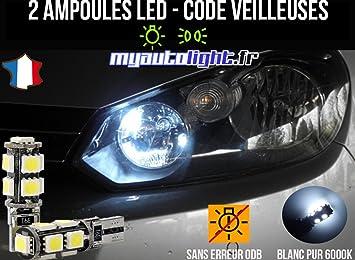 Lote de bombillas LED de color blanco xenón para Volkswagen: Amazon.es: Coche y moto