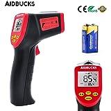 Termometro Laser Digitale AIDBUCKS A530 Misuratore ad Infrarossi a Pistola Senza Contatto da -32℃ a 530℃ LCD Retroilluminato, Batteria Inclusa